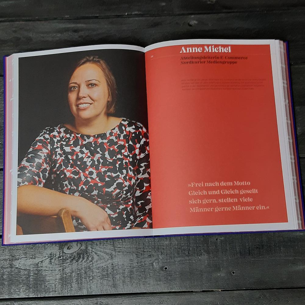 Interviewseite mit Anne Michel